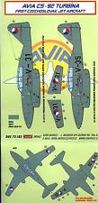 KORA Decals 1/72 Czech AVIA S-92 TURBINA (Me-262) Jet Fighter Part 3