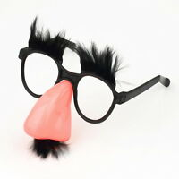 Glasses Mustache Fake Nose Clown Fancy Dress up Costume Props Fun Party Favor 7@