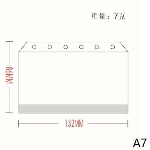 5 X A5\A6\A7 Transparent.Zip Lock Umschlag Binder Pocket Refill Organizer de^