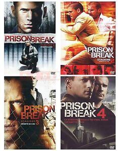 PRISON-BREAK-STAGIONE-1-2-3-E-4-23-DVD-COFANETTI-SINGOLI-ITALIANI-NUOVI