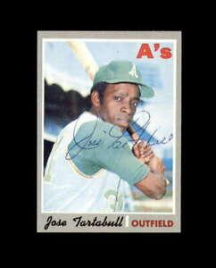 Jose Tartabull Hand Signed 1970 Topps Oakland Athletics Autograph