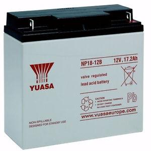 Yuasa-NP18-12B-12v-18Ah-for-Golf-Replaces-NPC17-12-TEV12180-amp-YC20-12-NP18-12