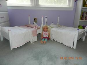 Handmade-Wooden-Doll-Beds-With-Hand-Sewn-Vintage-Bedding