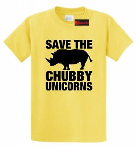 Save-The-Chubby-Unicorns-Funny-T-Shirt-Rhino-Unicorn-Horse-Lover-Gift-Tee-Shirt