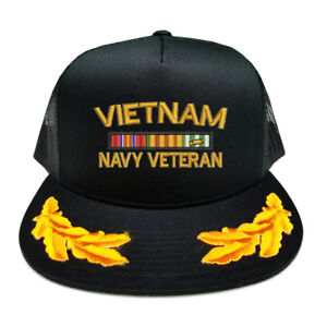 Details about CUSTOM MAKE VIETNAM NAVY VETERAN RIBBON SCRAMBLED EGGS  YUPOONG CAP HAT