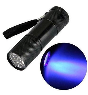 9 LED UV Torch ghost hunting paranormal flashlight ultraviolet equipment lamp U