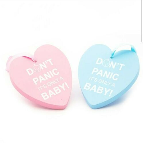 Don/'t Panic It/'s Only A Baby Blue Heart Plaque New Baby Gift Baby Shower