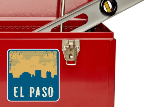 2 x  El Paso Vinyl Stickers Travel Luggage #10610