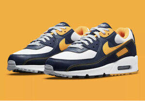 Details about Nike Air Max 90 Michigan Navy Midnight Mens Size 8.5 / 10 Womens (DC9845-101)