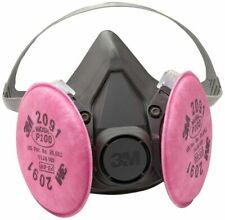 3m 6200 Half Facepiece Respirator With 3m 2091 P1oo Filter Cartridge Size Medium