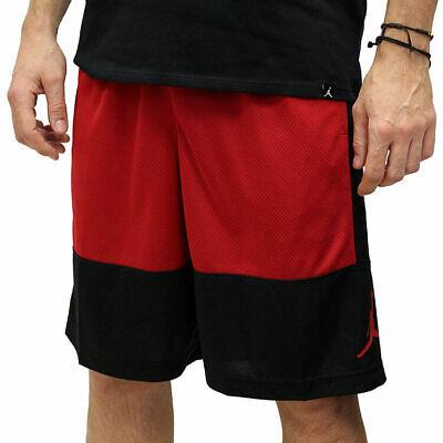 SHORTS AR2833-010 BLACK /& RED MENS NIKE AIR JORDAN RISE BASKETBALL Sz SMALL