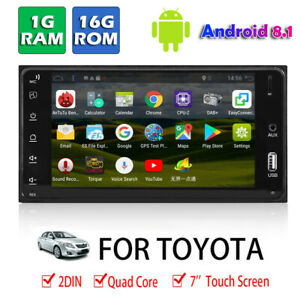 For-Toyota-7in-Android-8-1-Double-Din-Quad-Core-Car-Stereo-MP5-Player-GPS-Units