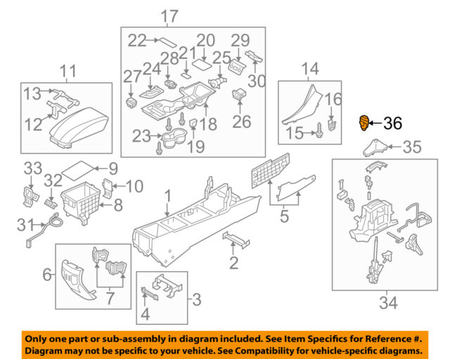 Genuine Hyundai 46720-3Q000 Gear Shift Lever Knob Assembly