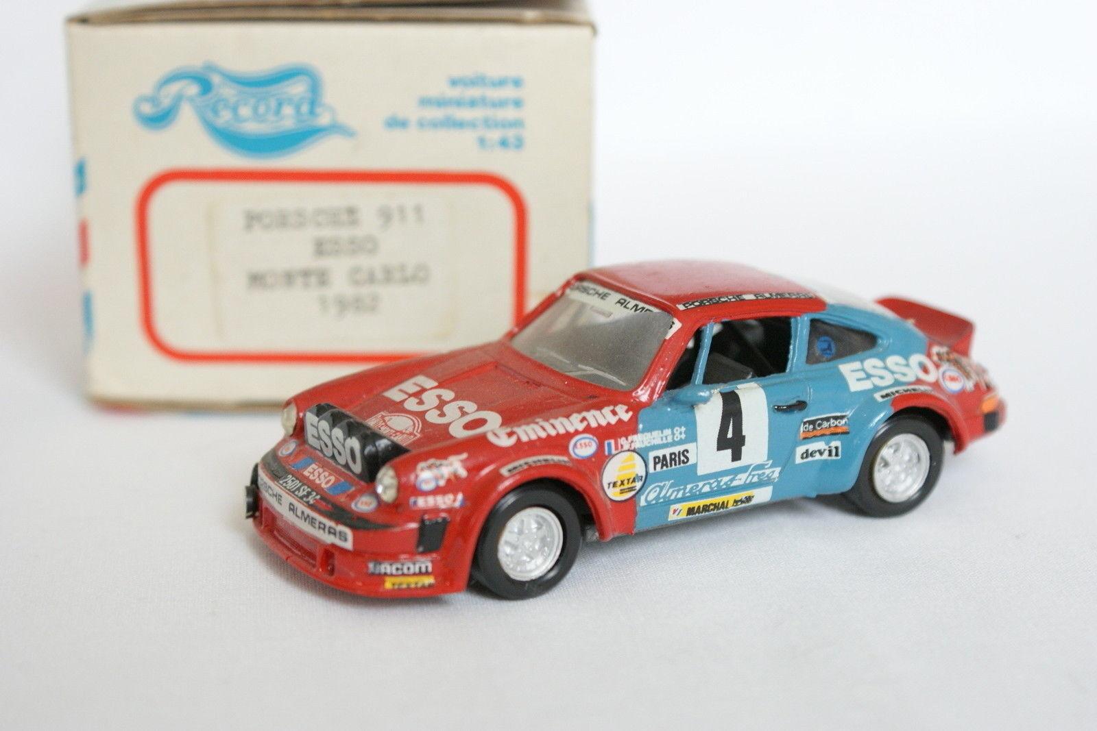 Record Kit 1 43 - Porsche 911 Mounted Carlo Rally 1982 Esso