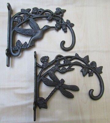 SWIVEL HANGING BRACKET cast iron rustic vintage old hanging hook scroll brackets
