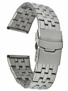 Edelstahl-Uhrenarmband-5-reihig-glanzpoliert-gerader-Stegansatz-22-mm-Laenge-18