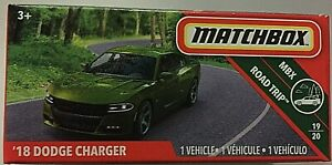 MATCHBOX-DIECAST-GREEN-039-18-DODGE-CHARGER-ROAD-TRIP-VEHICLE-19-OF-20-SCALE-1-64