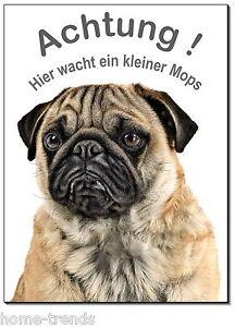 Türschilder Dekoration Mops-hund-aluminium-schild-0,5-3 Mm Dick-türschild-warnschild-hundeschild