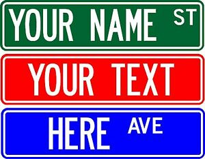 Personalized Street Signs >> Details About Personalized Custom Street Sign 6 X24 Make Your Own Sign Free Shipping