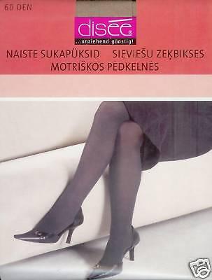 transparent schwarz 42-44  *disee* 20den ELASTISCH+FEIN  2 Strumpfhosen