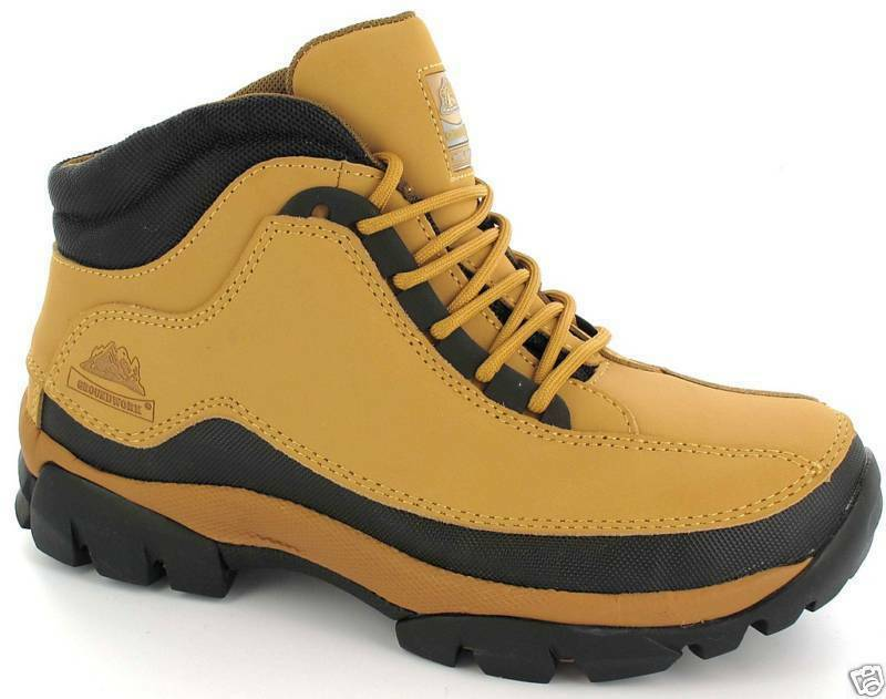 NEW MENS TIMBO SAND  SAFETY STEEL TOE CAP WORK   TRAINER BOOTS HONEY SIZE uk 12