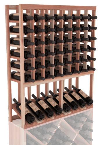 Free Shipping! High Reveal Wine Cellar Rack Kit in Premium Redwood
