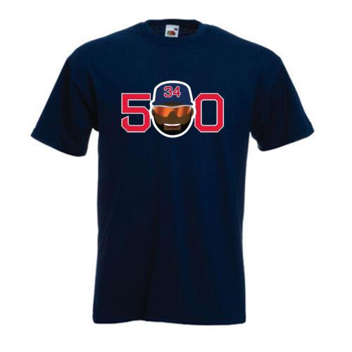 "Big Papi David Ortiz Boston Red Sox /""500 Home Runs/"" jersey T-shirt  S-5XL"