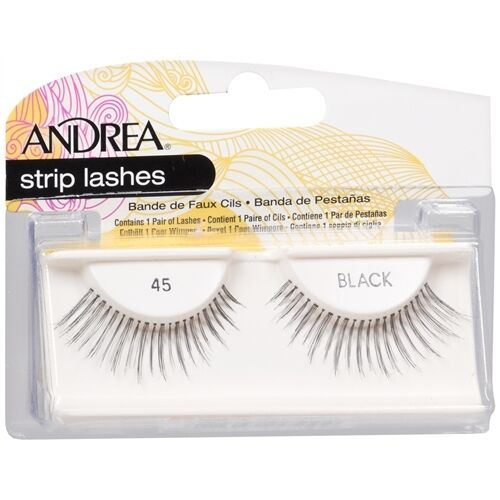 Andrea Modlash 45 False Eyelashes Strip Lashes Black 24510