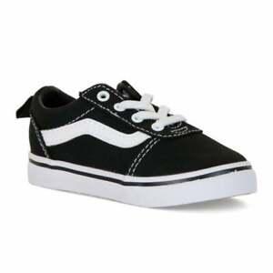 Vans-Ward-Infants-Slip-On-Canvas-Pumps-Trainers-Various-Colours-Size-UK-5-9