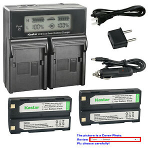 Kastar Battery (X2) & LCD Slim USB Charger for Sony NP-FH