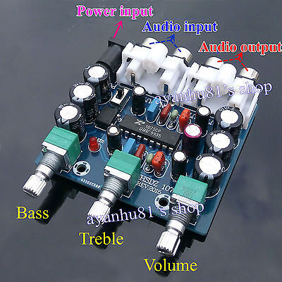 AC/DC 12V XR1075 BBE Preamplifier Audio Tone Board Jack Perfect for Car TDA7850