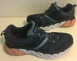 HOKA-One-One-Gaviota-2-Men-039-s-Running-Shoes-Athletic-US-size-12-Blue-Salmon