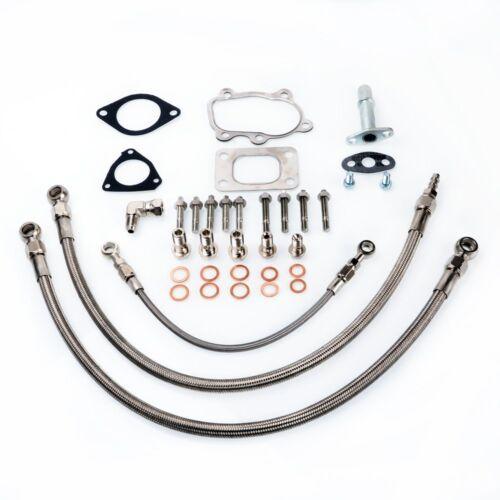 Fits S13 SR20DET Silvia Garrett T25 Journal Bearing Oil /& Water Line Kit 6AN