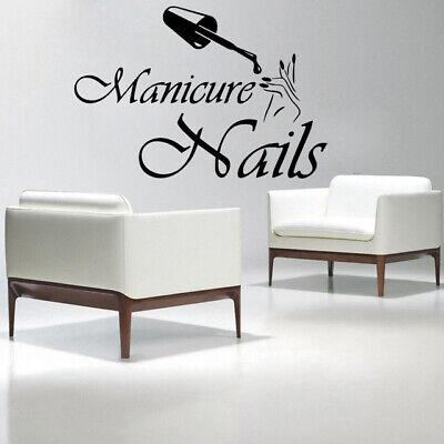 Nail Salon Manicure Beauty Girls shop window gift Wall Vinyl Decal Sticker V409