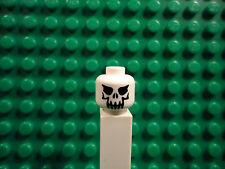 Lego mini figure 1 White skeleton head face #1