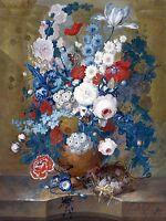 Flowers Birds Nest J. Van Os Tile Mural Kitchen Backsplash Art Marble Ceramic