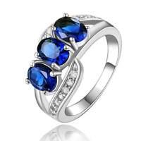 Fashion Size 9 Elegant Blue Topaz 10KT Gold Filled Women's Anniversary Ring Gift