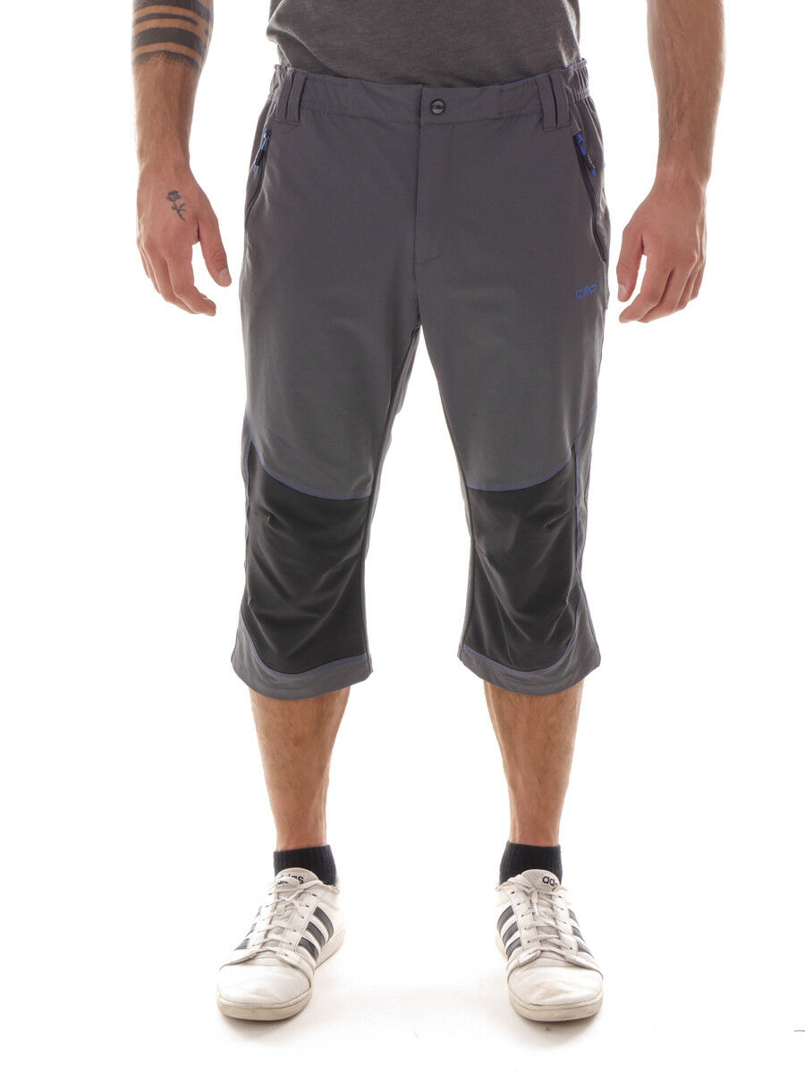 CMP Shorts One Capri Grey Water Resistant Breathable