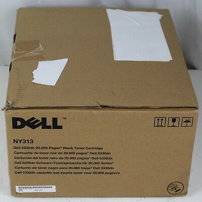 Lot of 2 PG New Genuine NY313 OEM Dell High Yield Black Toner HW307
