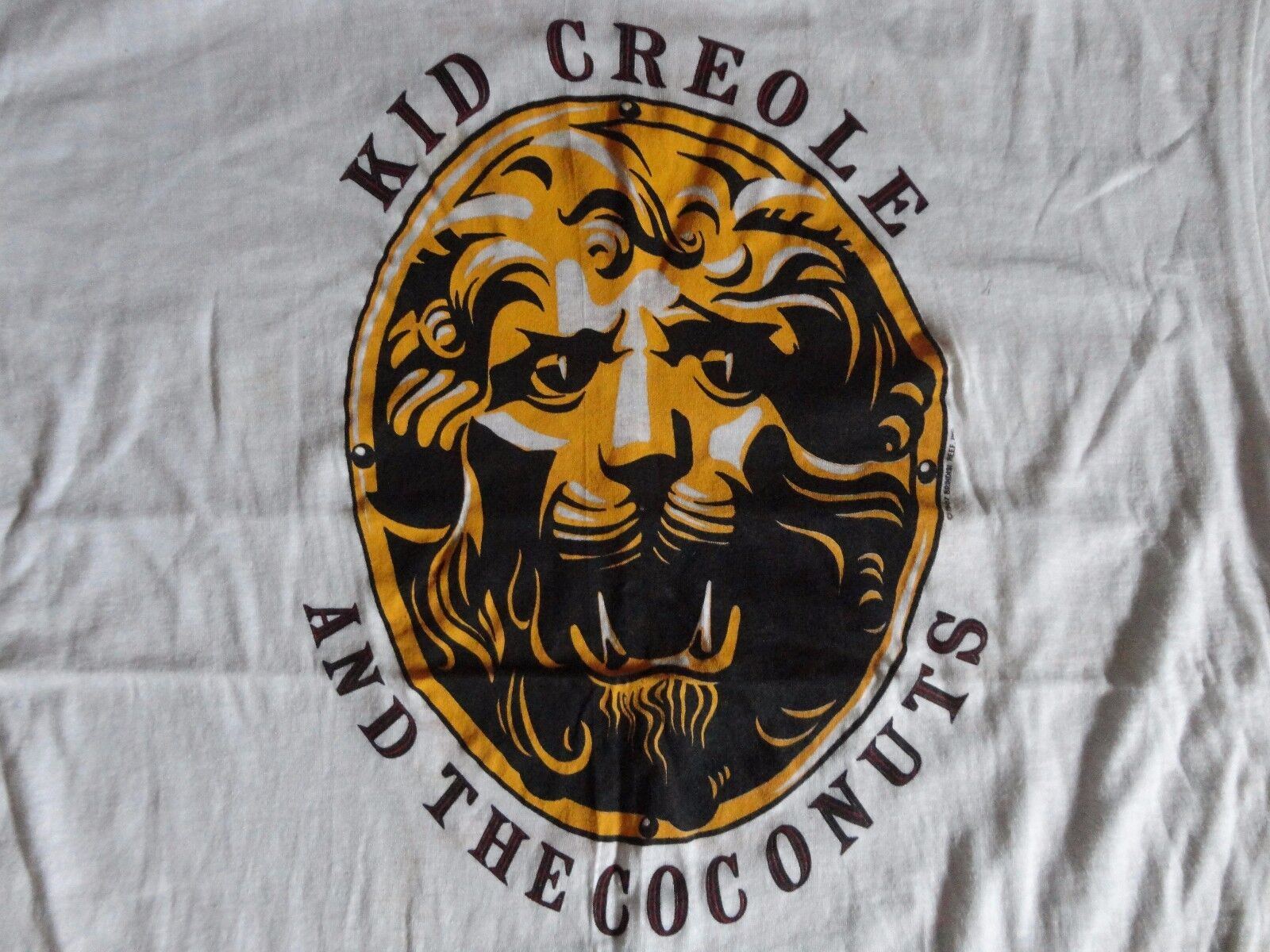 RARE Vintage 80's Kid Creole and the Coconuts Seen the Woods tour TShirt  Fits L