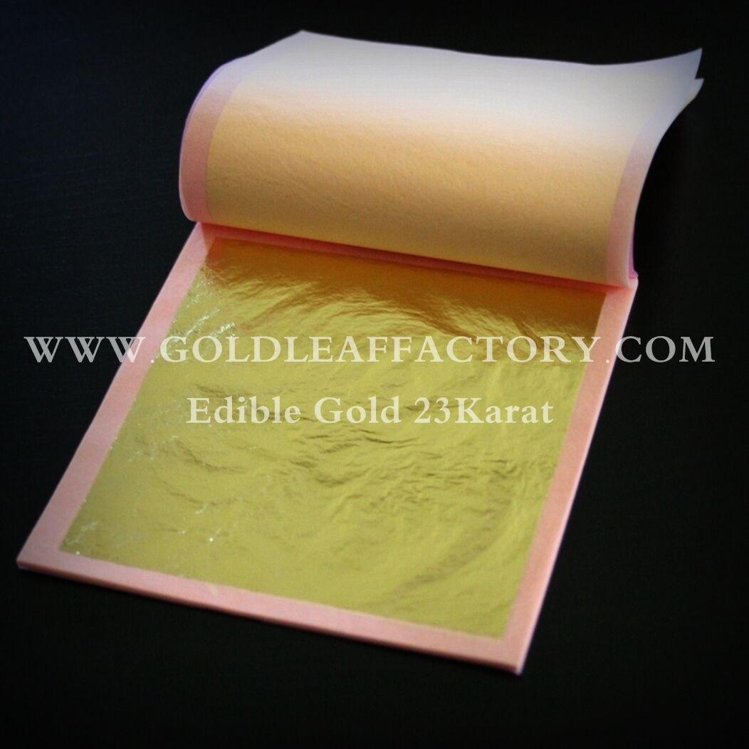25 hojas de Gold comestible E175 pasteles chocolate alimenticio