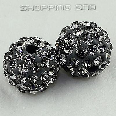10MM DIY Clay Disco Balls Beads Czech Crystal Shamballa Pave Premium Quality !