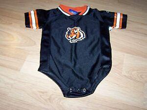Details about Infant Size 24 Months Cincinnati Bengals One Piece Jersey Black Orange Reebok