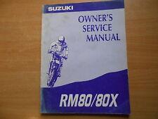 Workshop Repair Service Shop manual Suzuki RM 80 / X (1994) Werkstatthandbuch