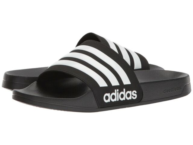 Men Adidas NEO CF Adilette Slide Sandal AQ1701 Color Black-White-Core Black New