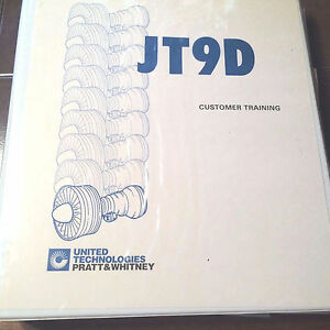 pratt whitney jt9d 7a jt9d 7f jt9d 7j training guide manual ebay rh ebay com JT9 Engine Stand Hartford Aviation