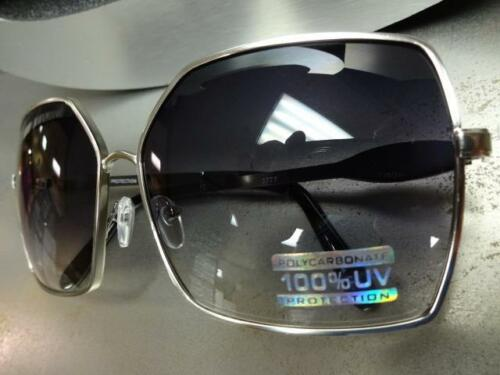 CLASSIC VINTAGE RETRO JACKIE Style SUN GLASSES Square Silver Metal Fashion Frame