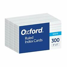 Oxford Ruled Index Cards 3 X 5 White 300 Pack 10022 Shipping Free New