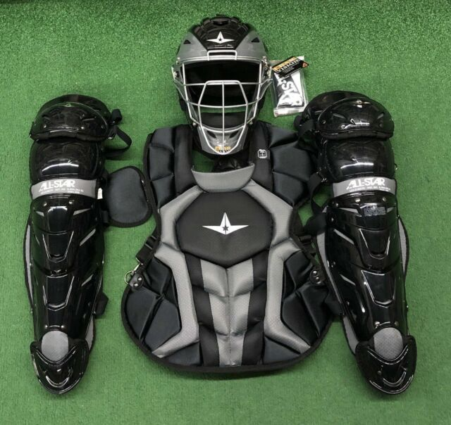 All Star System 7 Axis Youth 10 12 Catchers Gear Set Black