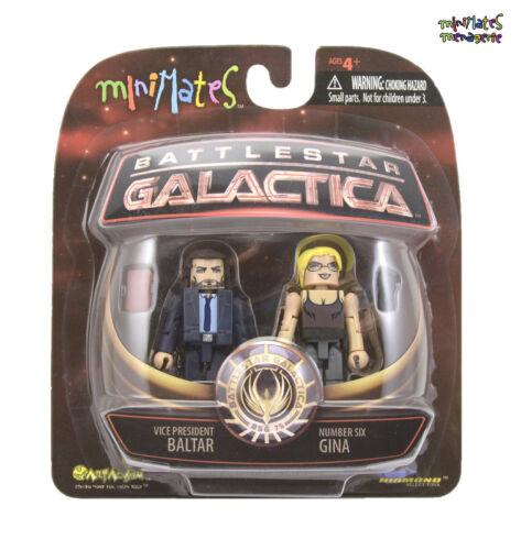Battlestar Galactica Minimates Series 2 Vice President Baltar /& Number Six Gina